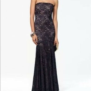 Cache black lace gown